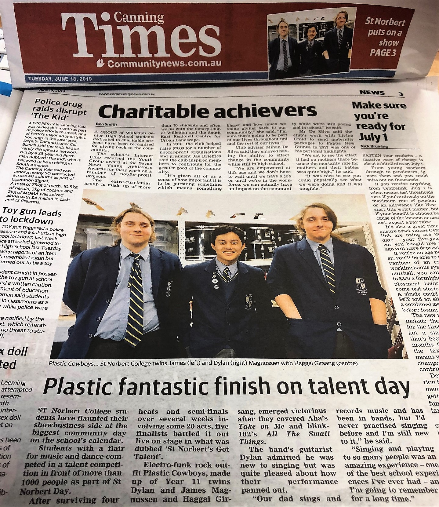 Plastic fantastic finish on talent day